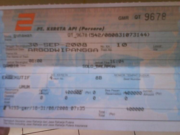 tiket kereta